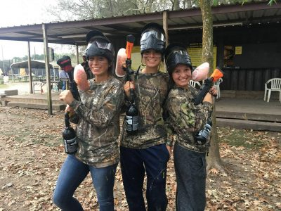gold girls paintball